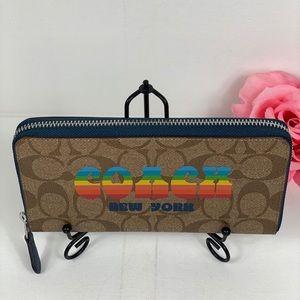 Coach Bags - Coach Accordion Wallet Retro Rainbow Animation